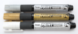 Christmas Pack of 3 Pentel Permanent bullet tip paint markers MMP20